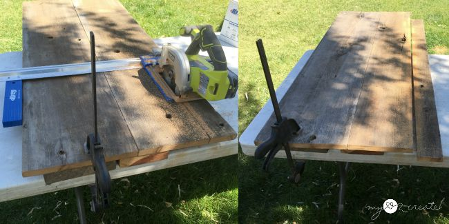 using Kreg rip-cut to cut wood planks
