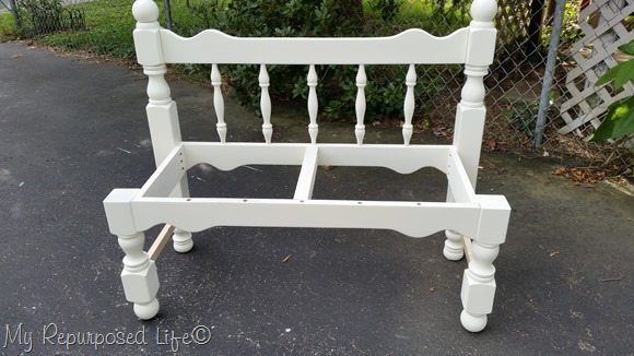 white-headboard-bench-frame