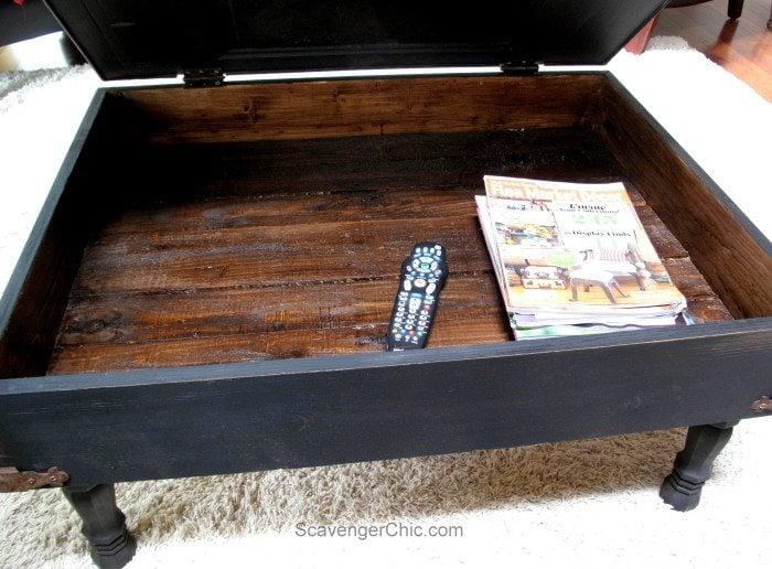 Interior of Vintage Door coffee table