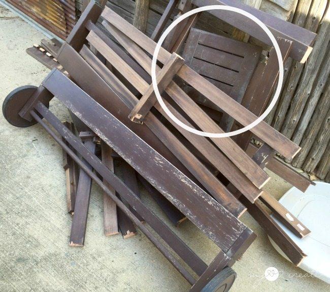 broken down lounge chair