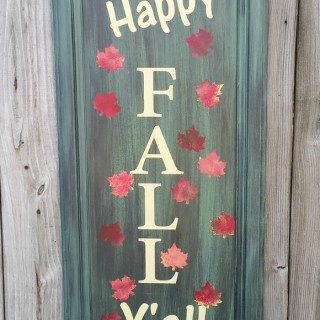 Happy Fall Y'all Repurposed Cabinet Door