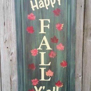 Happy Fall Y'all Repurposed Cabinet Door