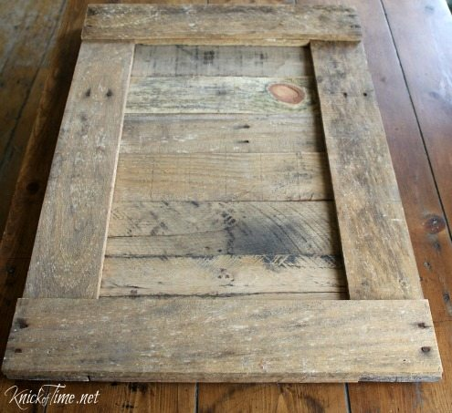 pallet wood rustic frame