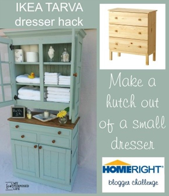 how to make a dresser into a hutch homeright. Black Bedroom Furniture Sets. Home Design Ideas