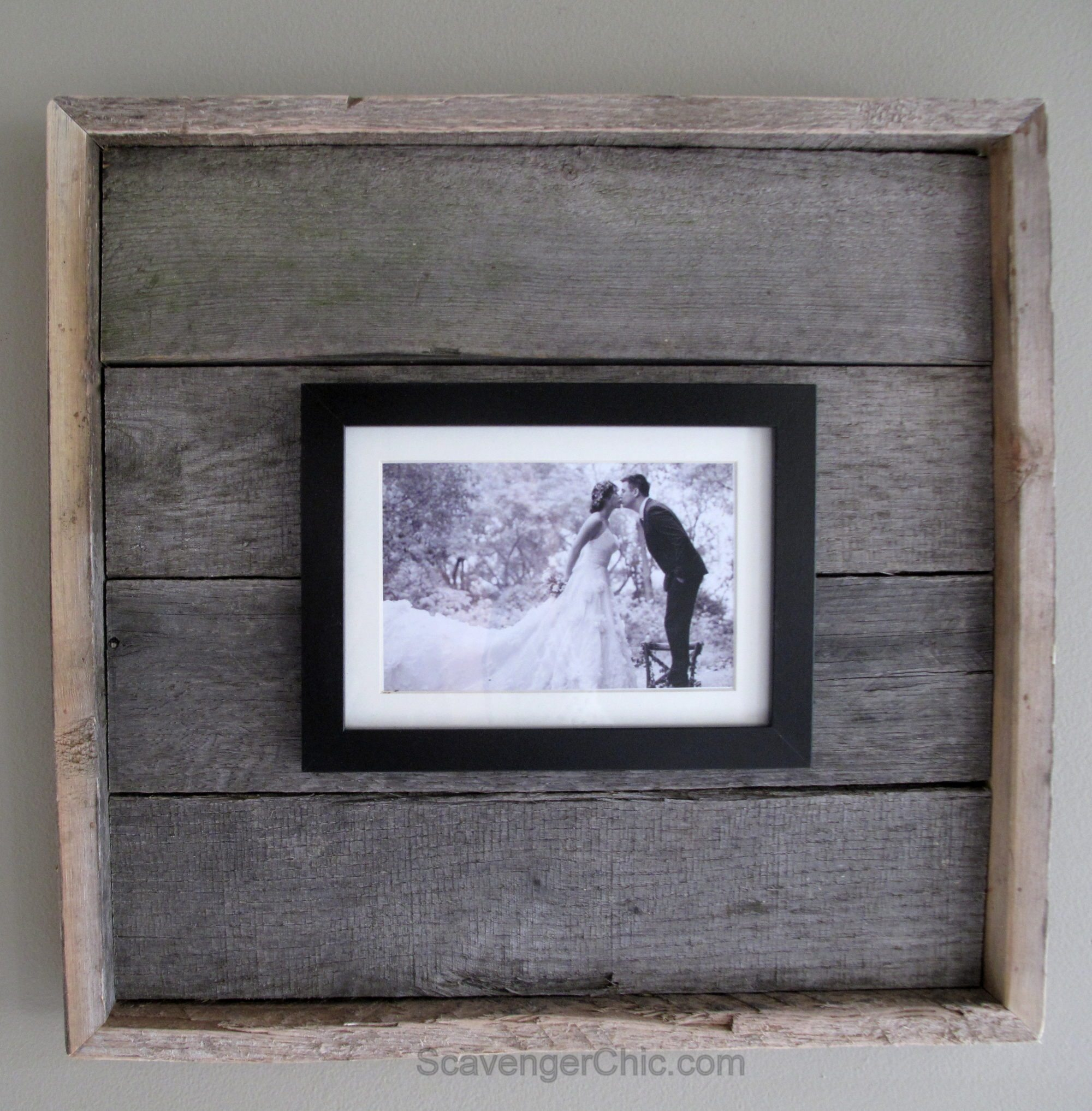 Easy Pallet Wood Frame My Repurposed Life 174
