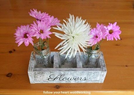 pallet wood flower crate