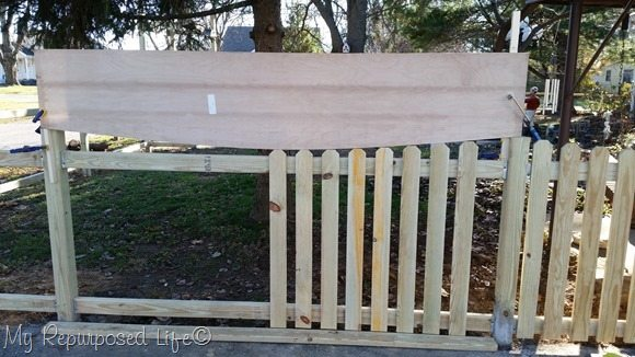 pickets and jig diy picket fence my repurposed life. Black Bedroom Furniture Sets. Home Design Ideas