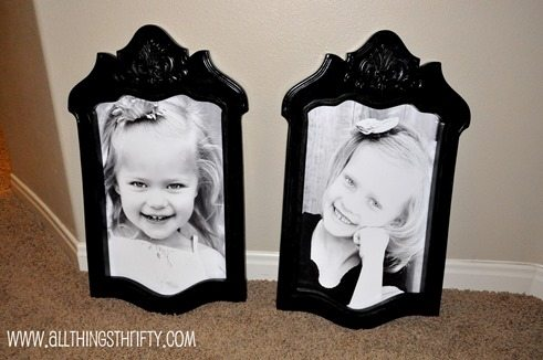 Picture Frames from old chairs
