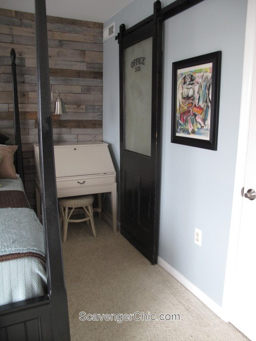 Sliding Barn Door For The Bathroom My Repurposed Life
