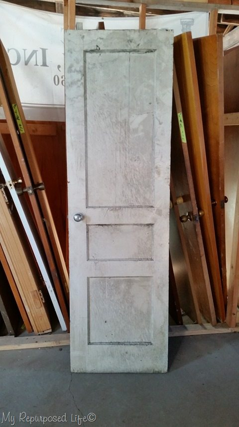 how to make a hall tree from an old door