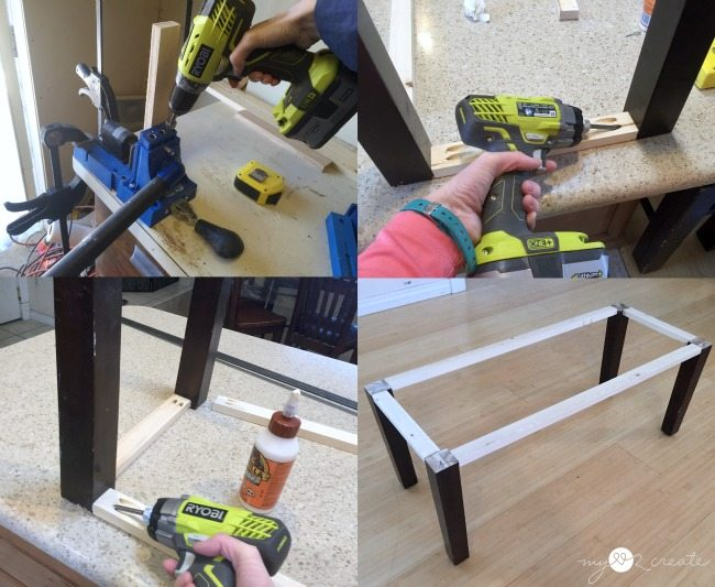 Use a kreg jig to build a storage bench