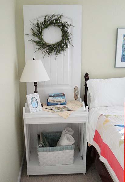 cute nightstand made from a door