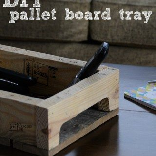 DIY Pallet Tray for your Coffee Table and More