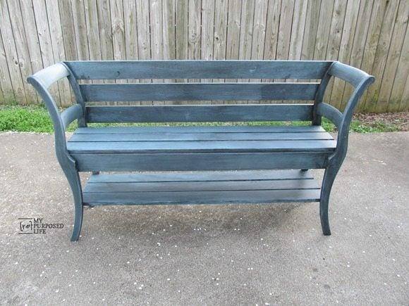 double chair bench MyRepurposedLife.com