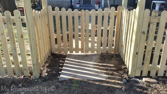 wood picket fence gate. Double-gate Wood Picket Fence Gate