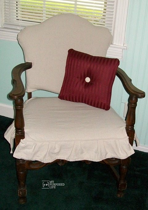 easy chair clipcover MyRepurposedLife