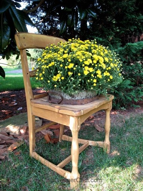 garden chair MyRepurposedLife.com