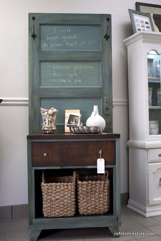 hall-tree - Old Door : Project Ideas For Repurposed Doors - My Repurposed Life®