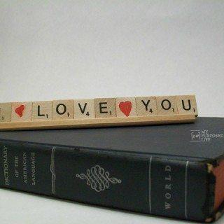 Simple Scrabble Valentine