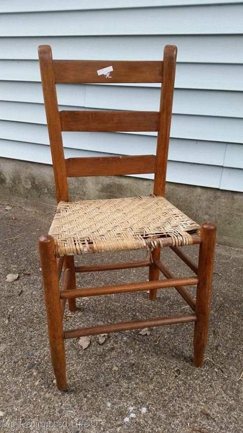 Funny storyu2026 the man that sold it to me said I could ask someone to cut a seat for me. heheheh Little does he know . & Easy Weave Chair Seat - My Repurposed Life®