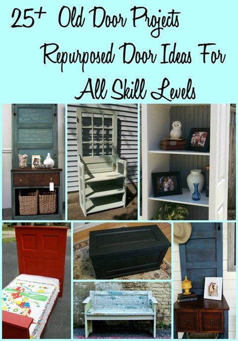 25+ old door projects, repurposed door ideas for all skill levels