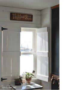 DIY Farmhouse Wooden Shutters