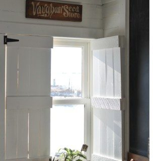 DIY interior farmhouse shutters