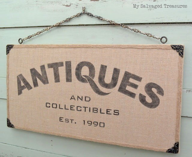 antiques sign from My Salvaged Treasures