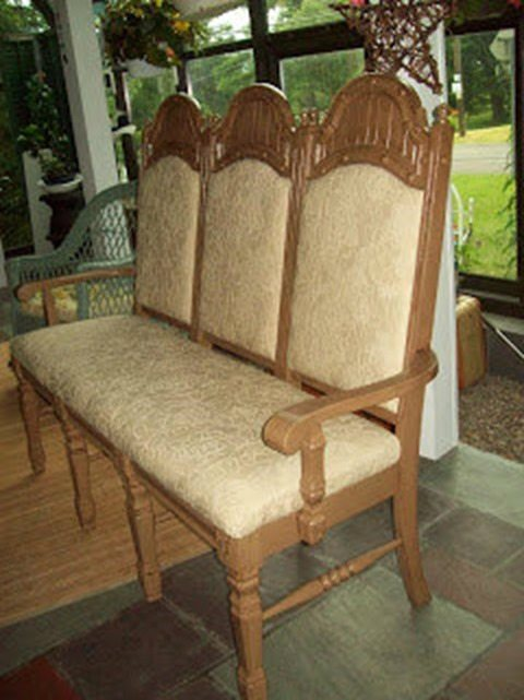 triple chair bench