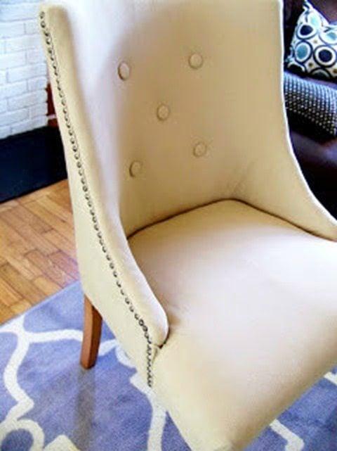 upholstered chair MyRepurposedLife.com