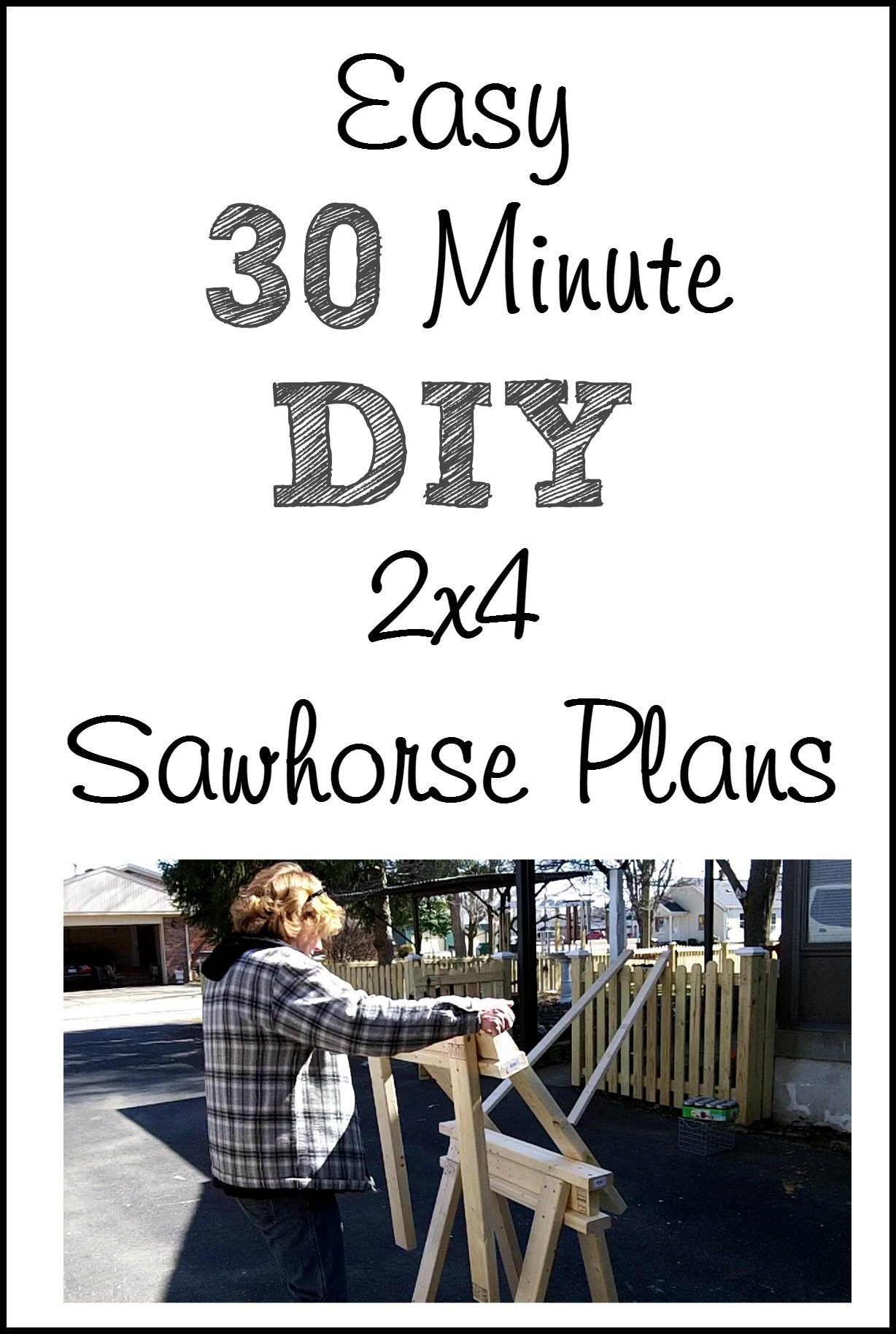 Easy 2x4 Sawhorse Plans - My Repurposed Life™