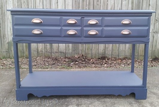 blue-sofa-table-repurposed-dresser