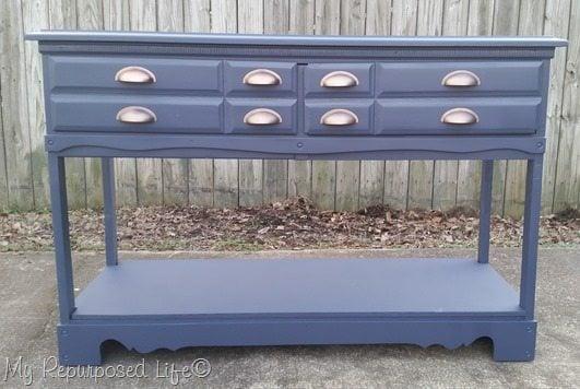 blue-sofa-table-repurposed-dresser