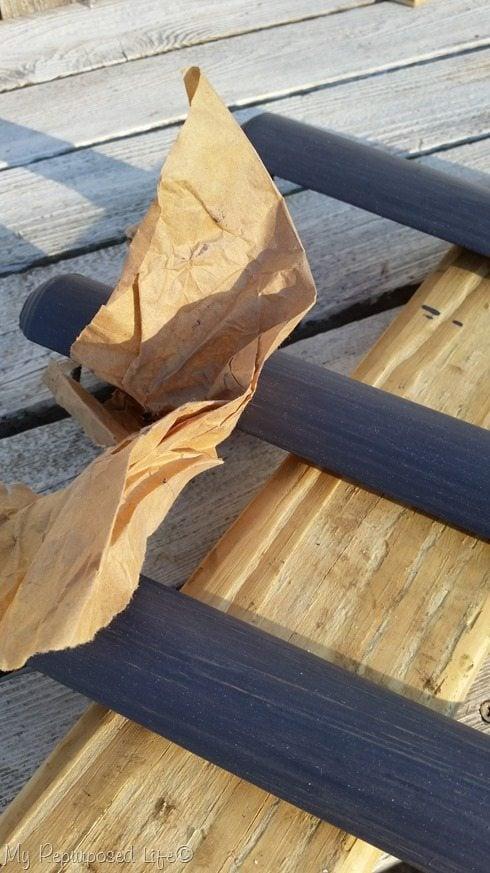 brown paper sanding