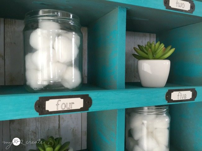 cubby organizer made from old drawers