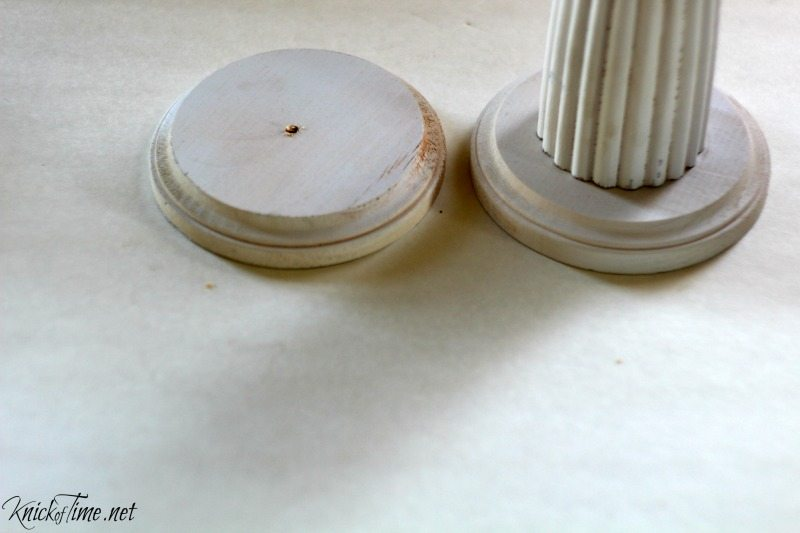 How to turn a pie plate into a pedestal stand