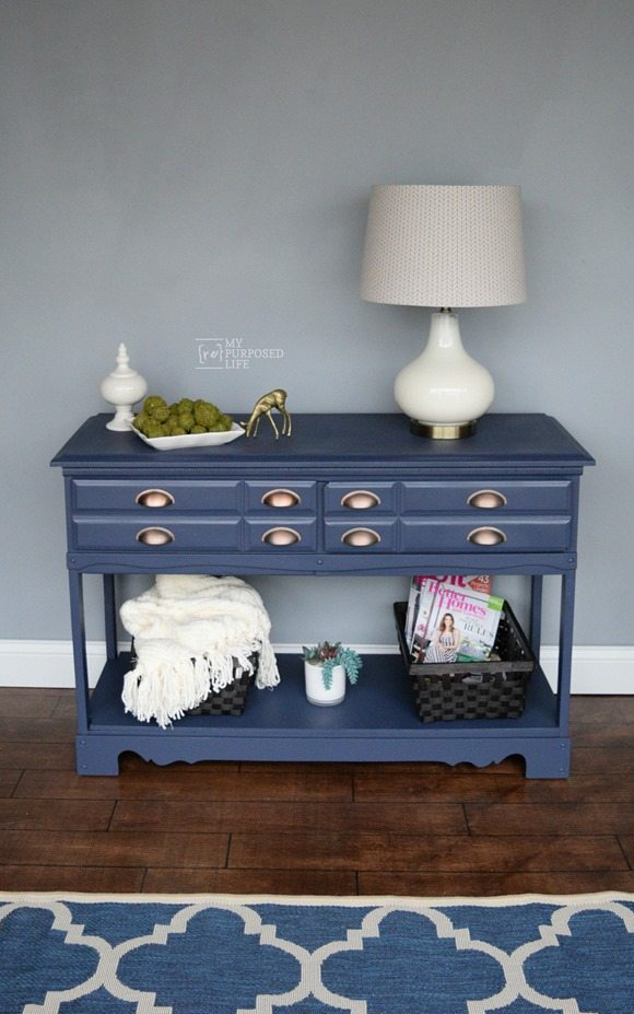 My Re-Purposed Life Dresser turned into Hall Table | DIY Like a Boss Feature