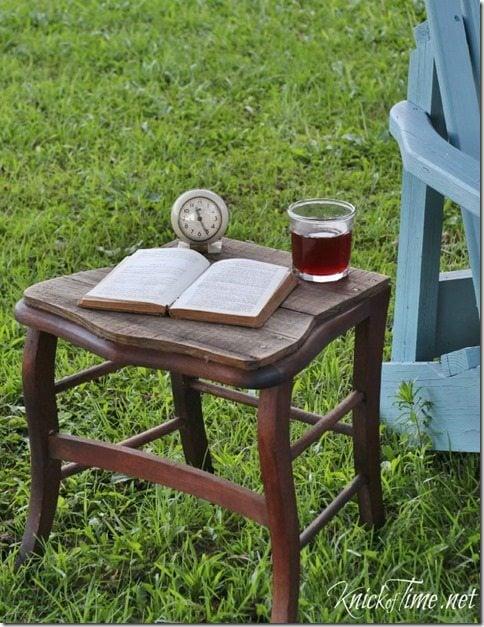 upcycled chair table MyRepurposedLife.com