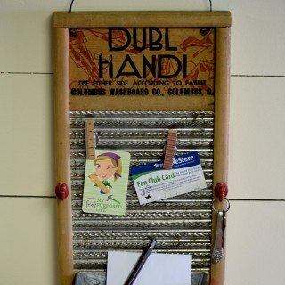Vintage Washboard Memo