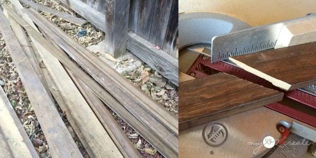 old moulding to make cabinet door frame