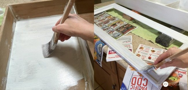 painting old drawer cabinet