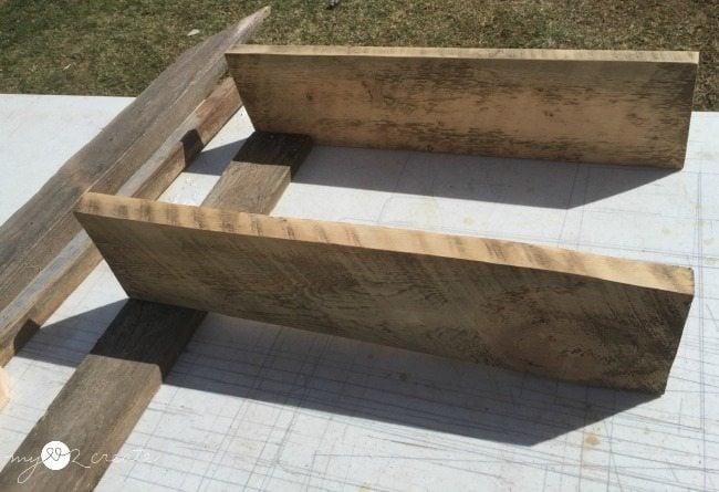 dry fitting wood for Reclaimed Wood Shelves