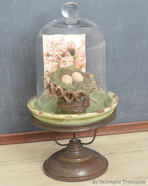 how to add vintage character to a new cloche