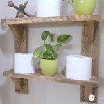 bathroom shelves reclaimed wood