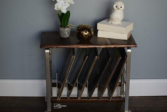 small record cart MyRepurposedLife.com