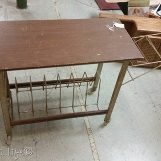 Vintage Record Table Cart