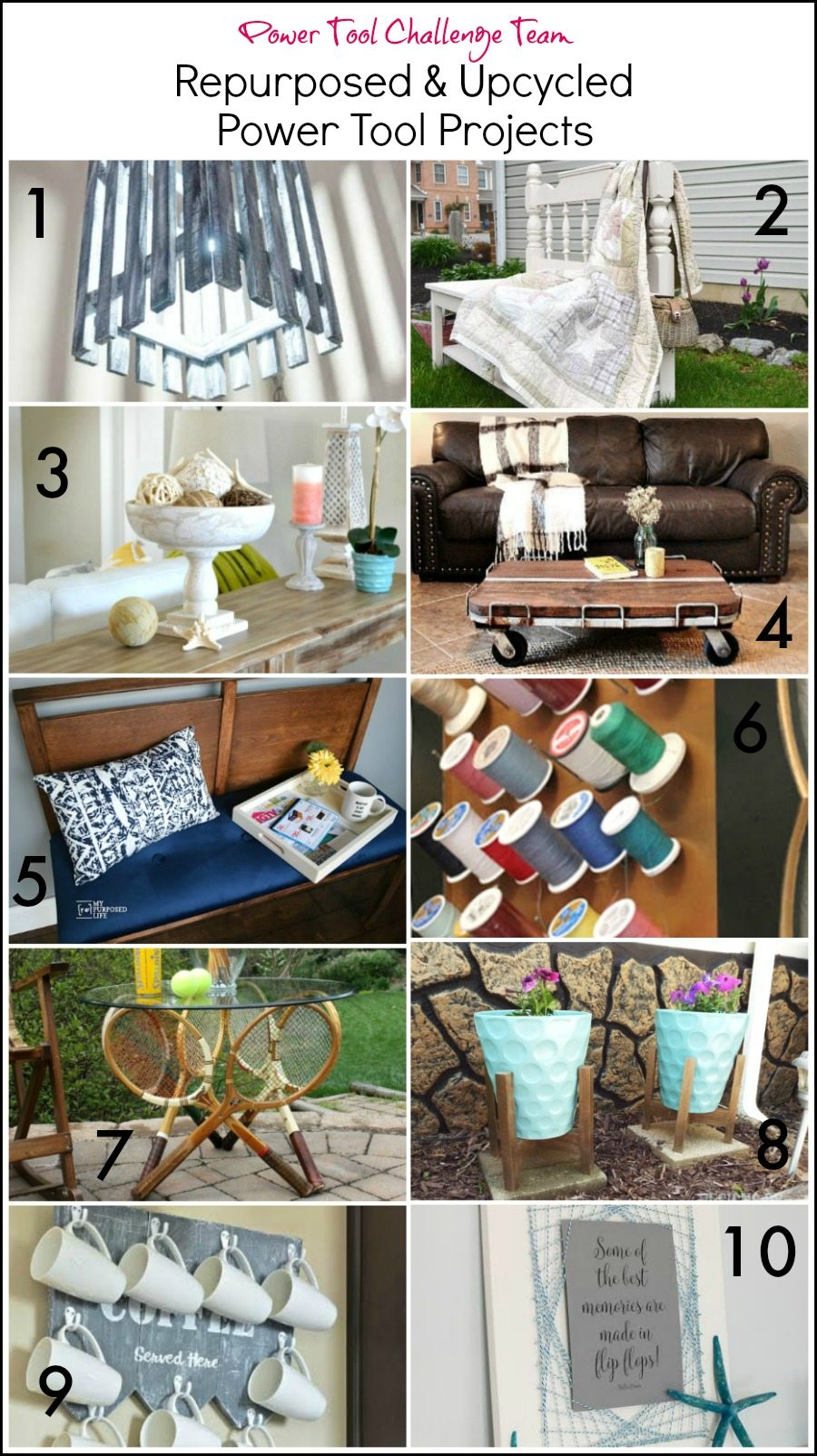 Repurposed Upcycled Power Tool Projects from the Power Tool Challenge Team