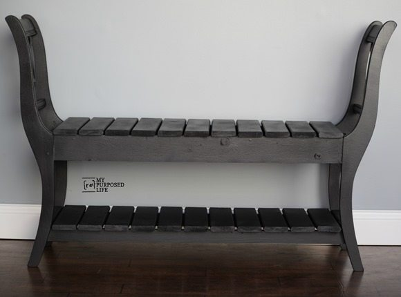 black end of chair bench MyRepurposedLife.com