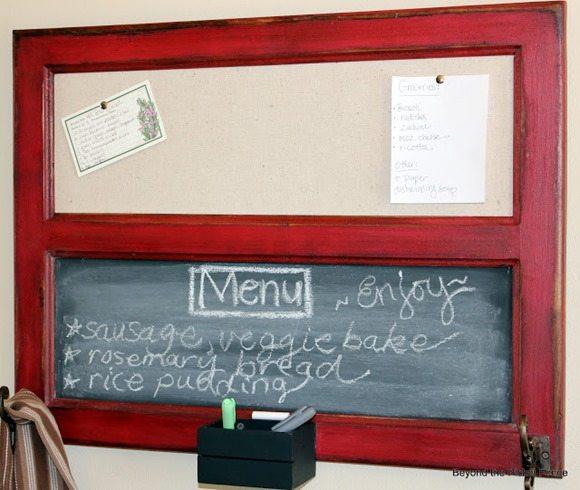 cupboard door window chalkboard memo