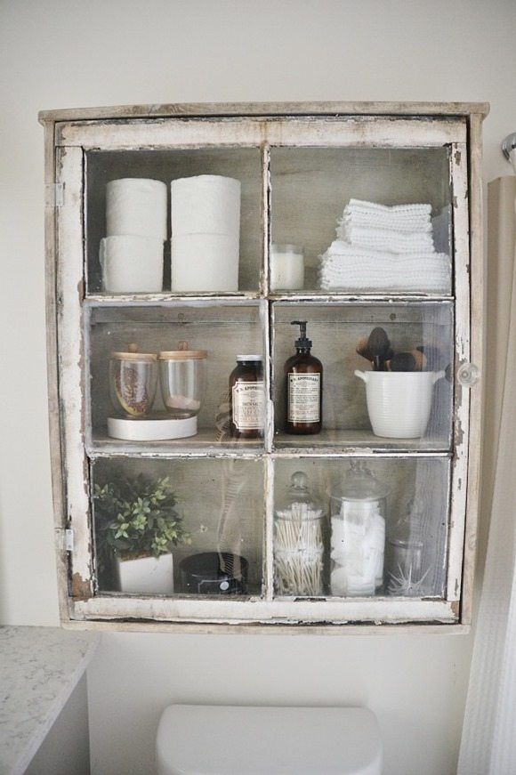 Window projects my repurposed life for Old farmhouse bathroom ideas